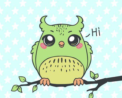 owl, bird, branch